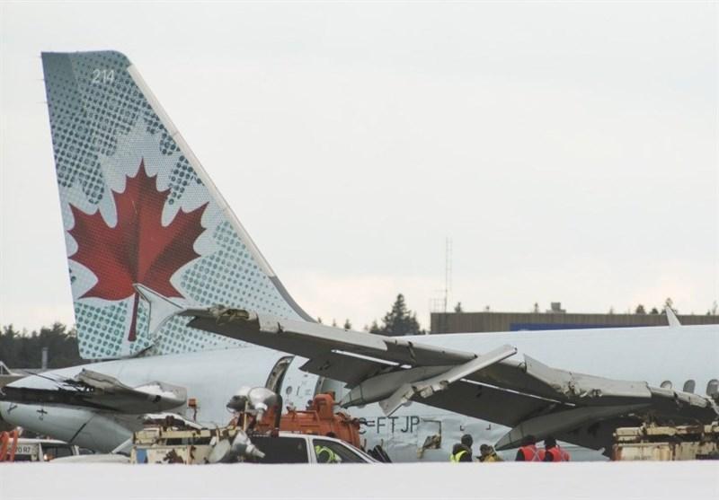 برخورد دو هواپیما بر فراز آسمان اتاوا در کانادا