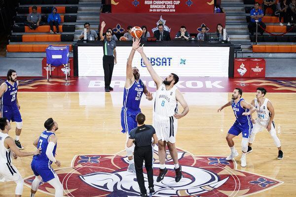 پیروزی تیم بسکتبال نفت آبادان مقابل نماینده چین تایپه