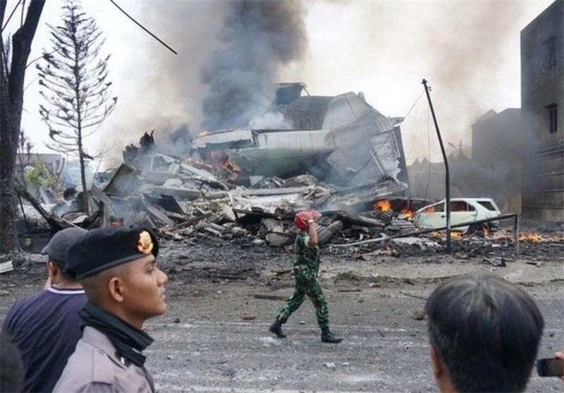 120 کشته در سقوط هواپیمای نظامی در اندونزی
