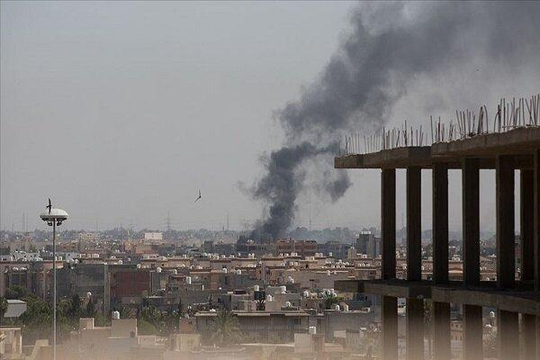 حمله موشکی نیروهای حفتر به فرودگاه معیتیقه لیبی
