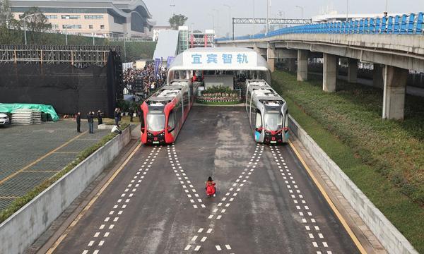 تکنولوژی جدید قطار های بدون ریل در چین!