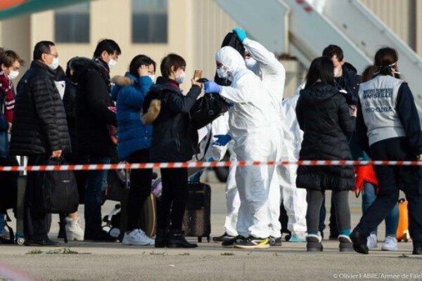 فرانسه: 20 مسافر ورودی از چین مشکوک به کرونا هستند