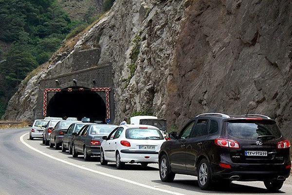 کندوان و هراز بعدازظهر امروز یکطرفه می شود ، ترافیک سنگین در محور فیروزکوه