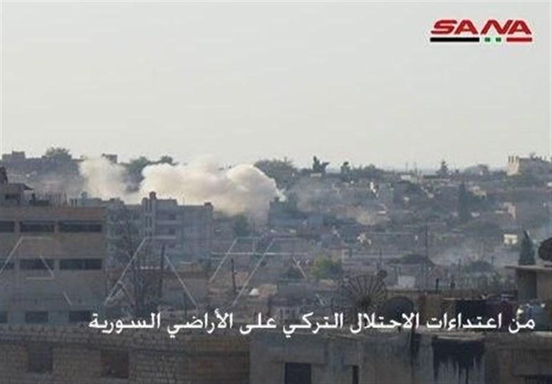 سوریه ، حملات نظامیان ترکیه ای به تل تمر در حومه شمالی حسکه