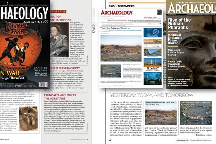 انتشار خبر پروژه سفیدکوه مکران در معتبرترین نشریات باستان شناسی جهان