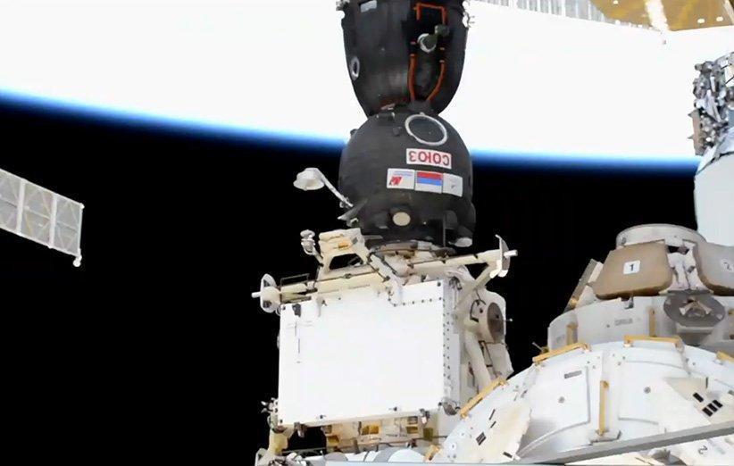 کپسول سرنشین دار سایوز به ایستگاه فضایی بین المللی پیوست