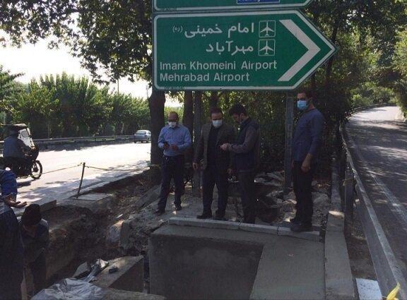 برطرف نقطه آبگیر بزرگراه شهید مدرس تقاطع شهید همت غرب در منطقه سه