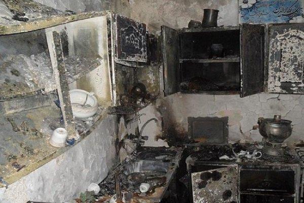 مرگ بچه 9 ساله در آتش سوزی منزل به دلیل اختلاف اقتصادی