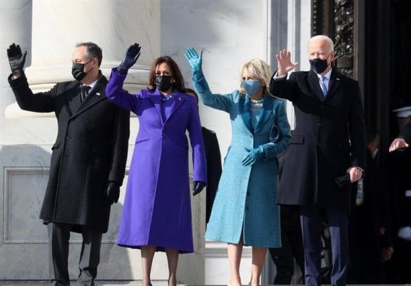 مراسم تحلیف ریاست جمهوری آمریکا، جو بایدن سوگند یاد کرد؛ باید با تروریسم داخلی مبارزه کنیم