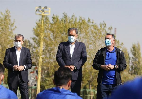 درخواست خلیل زاده از مددی: اجازه بده من به جایت در انتخابات فدراسیون فوتبال شرکت کنم! خبرنگاران